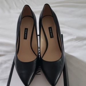 Nine West classic black leather heels